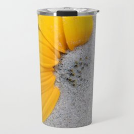 Sunflower in the Sand Travel Mug