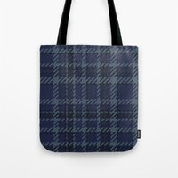 plaid Tote Bags featuring Plaid by Xiao Twins