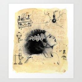 Frankestein´s Bride Art Print