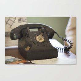 The Old Telephone Canvas Print