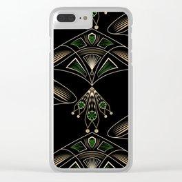 """Art Deco """"Emeralds """" Clear iPhone Case"""