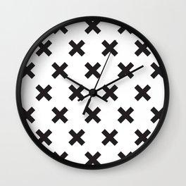 X black Wall Clock