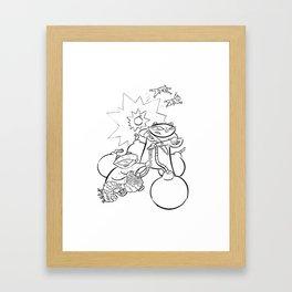 Explosives Framed Art Print