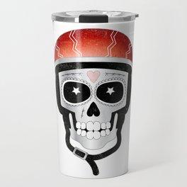Halloween Cyclist Sugar Skull Travel Mug