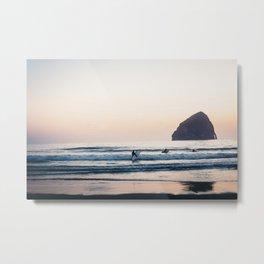 Cape Kiwanda Surfers - Pacific Northwest Metal Print
