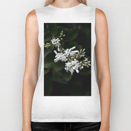 White flowers Biker Tank