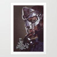 mf doom Art Prints featuring MF Doom by K-mu Toma
