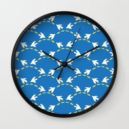 Geometrical Matisse's birds Wall Clock