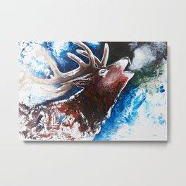 Deer - Valentine - animal by LiliFlore Metal Print