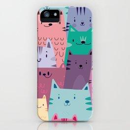 Pastel Cats iPhone Case