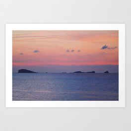 Sunset at Ibiza island Art Print