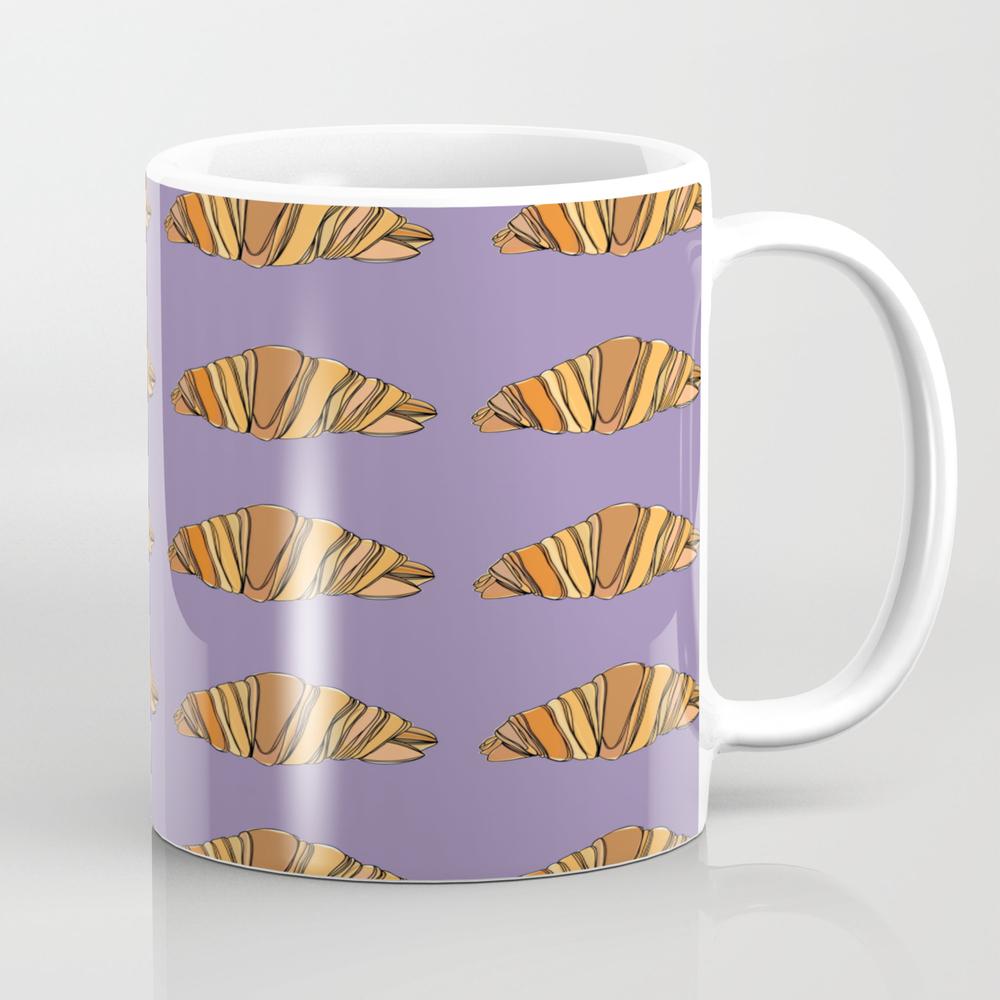 Croissants Tea Cup by Aleidafoulk MUG7879688