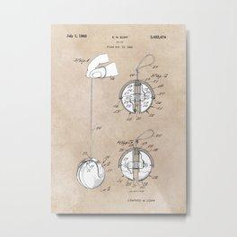 patent art Zopf Yo-Yo 1969 Metal Print