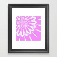 Orchid Pink Flower Framed Art Print