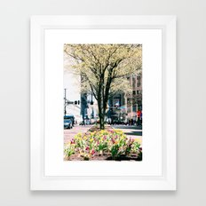 hustle & bustle Framed Art Print