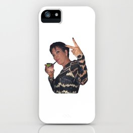 Peace Out Kris Jenner iPhone Case