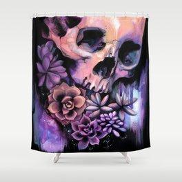 Succulent Skull Shower Curtain