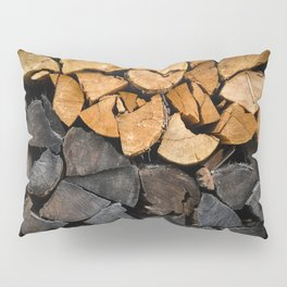 Fire Wood Pillow Sham
