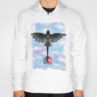 hiccup Hoodies featuring Hiccup and Toothless Flying from How to Train your Dragon 2 by Brietron Art