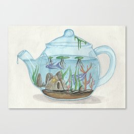 Teapot aquarium Canvas Print