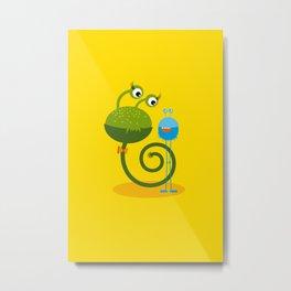 Monster Friends – Illustration for children Metal Print