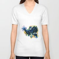 tardis V-neck T-shirts featuring Tardis  by DifficultyEasy