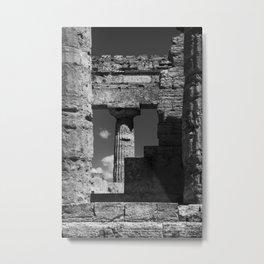 Memories of Paestum Temples  Metal Print