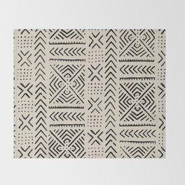Line Mud Cloth // Bone Throw Blanket