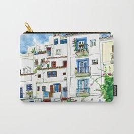 Dalt Vila houses from Ibiza - Calle de la Carrossa Carry-All Pouch