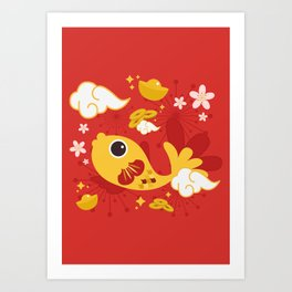 Happy And Lucky Art Print