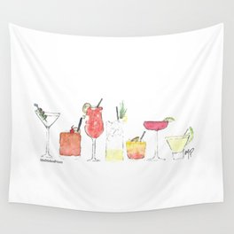 Cocktail Wall Tapestry