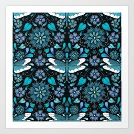 Dragonfly Pattern Art Print