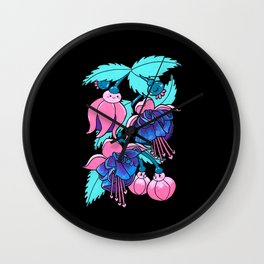 fuschia babes Wall Clock