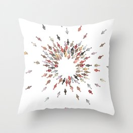 Cute Coloful Fishes Throw Pillow