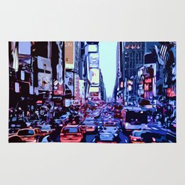 Through the streets of New York City Rug