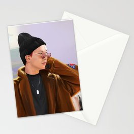 Jay at the airport Stationery Cards