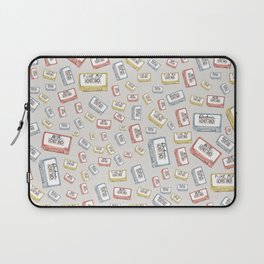 Primary Mixtapes on Neutral Grey Laptop Sleeve