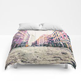 Stone Street - Financial District - New York City Comforters