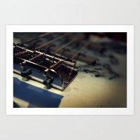 bass Art Prints featuring Bass by Michael Larkin