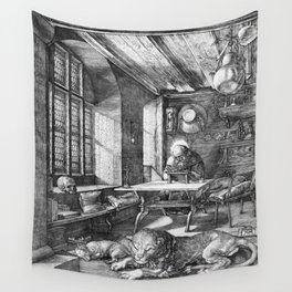 Saint Jerome in His Study by Albrecht Dürer Wall Tapestry