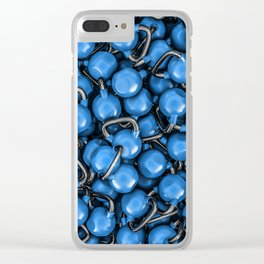 Kettlebells BLUE Clear iPhone Case