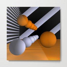 3D-geometry -6- Metal Print