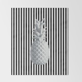 Black and White Anana | #society6 | Pineapple Throw Blanket