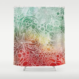 Christmas Bling Shower Curtain