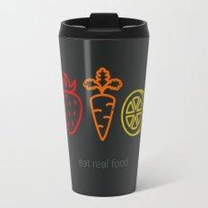 Eat Real Food. (dark) Travel Mug