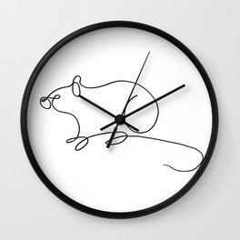Rat Wall Clock