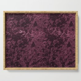 Deep Burgundy wine velvet Serving Tray
