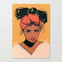 bow Canvas Prints featuring bow by Galvanise The Dog