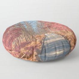 Jesup Boardwalk Trail - Tickle Me Pink Floor Pillow