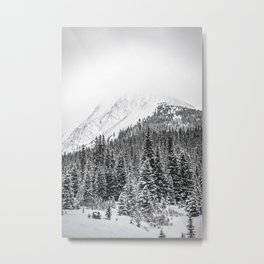 Chester Lake Winter Hike Metal Print